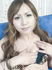Yuuka Kokoro gets dildo in asshole and sucked dong in shaved slit - Japarn porn pics at JapHole.com
