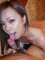 Sakiko Asian licks dick and showers her poonanie before is fucked - Japarn porn pics at JapHole.com