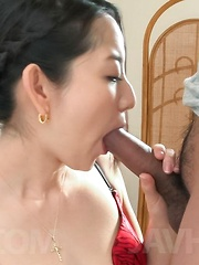 Anna Mihashi Asian sucks two tools and has hot ass cheeks touched - Japarn porn pics at JapHole.com
