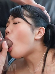 Misaki Oosawa aroused with vibrators gets cum from sucked dick - Japarn porn pics at JapHole.com