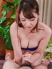 Yui Oba Asian with such juicy cans plays with tool and sucks it - Japarn porn pics at JapHole.com