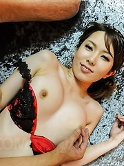 Yui Hatano Asian has round boobs touched and hairy snatch fucked - Japarn porn pics at JapHole.com