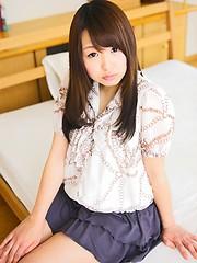 Playful Tokyo girl Hitomi Nawa has shaved pussy - Japarn porn pics at JapHole.com