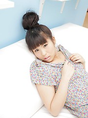 Sexy japanese brunette Nagisa Kano showing small tits - Japarn porn pics at JapHole.com