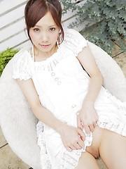 Very hot asian schoolgirl Asuka Yonezawa moves apart her sexy legs - Japarn porn pics at JapHole.com