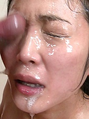 Asian men loads cum on innocent girl face - Japarn porn pics at JapHole.com