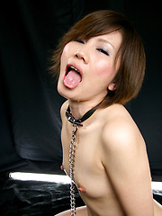 Short-haired asian slut takes it deep - Japarn porn pics at JapHole.com