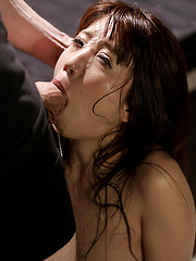 Japanese woman with small boobs gets deepthroat - Japarn porn pics at JapHole.com