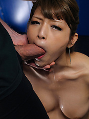 Japanese chick takes it deep - Japarn porn pics at JapHole.com
