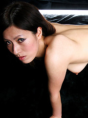 Asian girl in sexy pink stockings in deepthroat scene - Japarn porn pics at JapHole.com