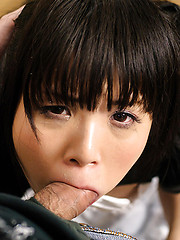 Japanese maid takes it deep from her boss - Japarn porn pics at JapHole.com