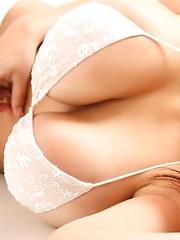 Harada Orei shows her huge boobs - Japarn porn pics at JapHole.com