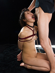 Roped asian whore takes it deep - Japarn porn pics at JapHole.com