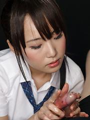 Innocent japanese babe Mizushima Ai - Japarn porn pics at JapHole.com