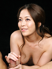 Asian whore Asakura Mint strokes cock for cum load - Japarn porn pics at JapHole.com