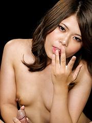 Busty japanese girl Yasukawa Mai doing handjob - Japarn porn pics at JapHole.com