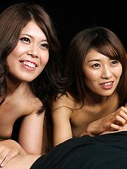 Miura Akina and Yasukawa Mai services one cock