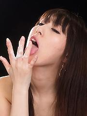 Oguri Miku blows cock - Japarn porn pics at JapHole.com