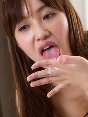 Cute japanese Toudou Yukari girl strokes cameraman cock - Japarn porn pics at JapHole.com