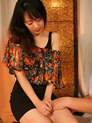 Hot japanese girl gets massaged