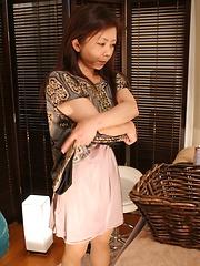 Hairy japanese on massage table