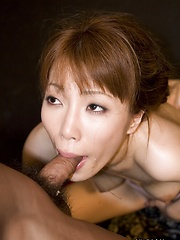 Kaede Kyomoto toys herself and sucks cock - Japarn porn pics at JapHole.com