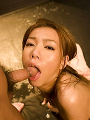 Japanese girl Kaoru Hayami likes to suck - Japarn porn pics at JapHole.com