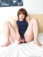 Nami Kinoshita wirh her dildo - Japarn porn pics at JapHole.com
