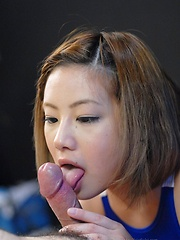 Japanese girl Kana Endo sucking a cocks - Japarn porn pics at JapHole.com