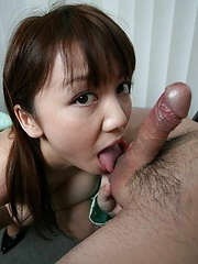 Pretty Meguru Kosaka gives head with deepthroat - Japarn porn pics at JapHole.com