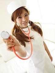 Sexy japanese nurse Aoi - Japarn porn pics at JapHole.com
