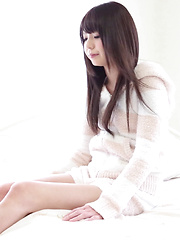 Ayana going topless while covering her smooth Japanese pussy lips with a micro thong is a wild challenge! She's such a cute and snuggle soft Japanese girl.