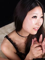 Model from Tokyo Miyanaga Kaori doing handjob - Japarn porn pics at JapHole.com