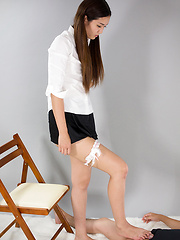 Yukishiro Madoka in tight pantyhose - Japarn porn pics at JapHole.com