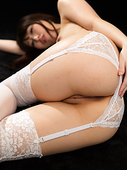 Oguri Miku in sexy white stockings