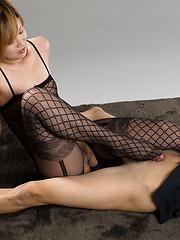 Otowa Kanna in one-piece suit - Japarn porn pics at JapHole.com