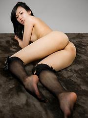 Yokoyama Natsuki posing in sexy socks - Japarn porn pics at JapHole.com