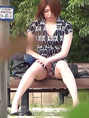 Seira Scratches Her Itch In Public - Japarn porn pics at JapHole.com