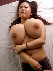 Monster boobs japanese porn star Fuko posing in sexy lingerie - Japarn porn pics at JapHole.com