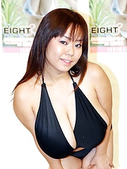 Giant tits Fuko in the presentation of one of her movies in Japan - Japarn porn pics at JapHole.com