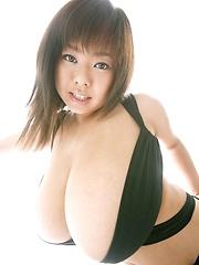 Sexy Fuko posing in a black bikini her monster tits - Japarn porn pics at JapHole.com