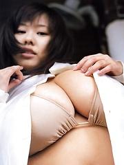 Sexy big titted Fuko posing in bikini her huge tits - Japarn porn pics at JapHole.com