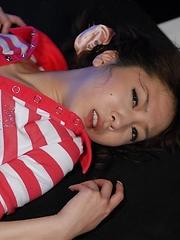 Hinano sucks cock and gets creampie - Japarn porn pics at JapHole.com