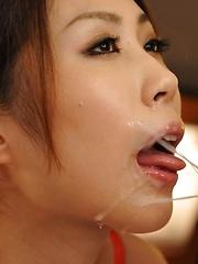 Japanese girl Rinka Kase gets two hard cocks - Japarn porn pics at JapHole.com