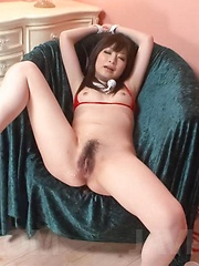 Asuka Mimi Asian with cans out of red bra has love box licked - Japarn porn pics at JapHole.com