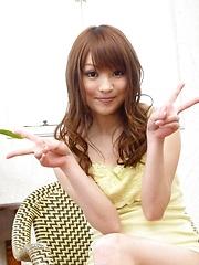 Maomi Nagasawa Asian plays with her titties ans rubs fish taco - Japarn porn pics at JapHole.com