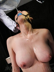 Akari Asagiri Asian is aroused to maximum to squirt in a bowl - Japarn porn pics at JapHole.com