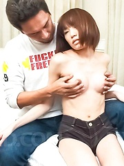 Ibuki Asian chick has clit under vibrator and licks hard phallus - Japarn porn pics at JapHole.com