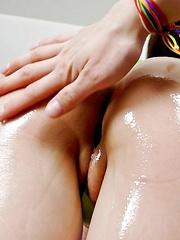 Rina Yuuki Asian has fine ass oiled and gets vibrators on peach - Japarn porn pics at JapHole.com