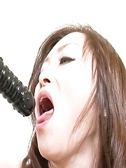 Miyama Ranko Asian pees after fucking her pussy with vibrators - Japarn porn pics at JapHole.com